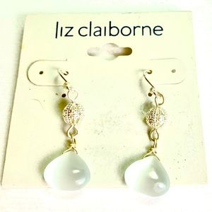"Liz Claiborne 1.5"" Moonstone Dangle Earrings"